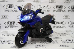 Мотоцикл RIVERTOYS MOTO E222KX синий